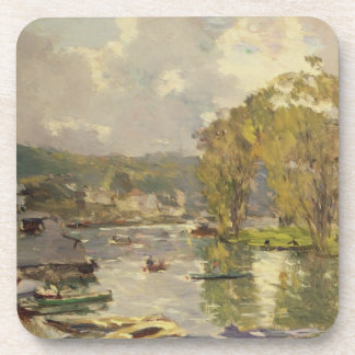 Along the Seine at Meudon, c.1893 (oil on canvas) Drink Coaster