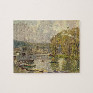 Along the Seine at Meudon, c.1893 (oil on canvas) Jigsaw Puzzle