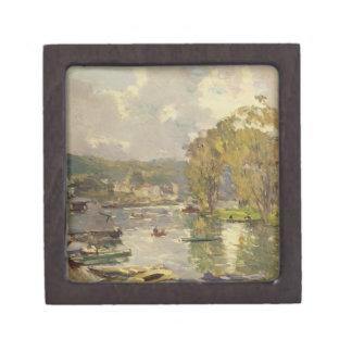 Along the Seine at Meudon, c.1893 (oil on canvas) Keepsake Box