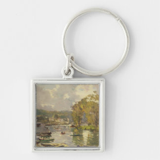 Along the Seine at Meudon, c.1893 (oil on canvas) Keychain