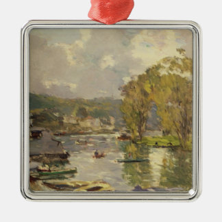Along the Seine at Meudon, c.1893 (oil on canvas) Metal Ornament
