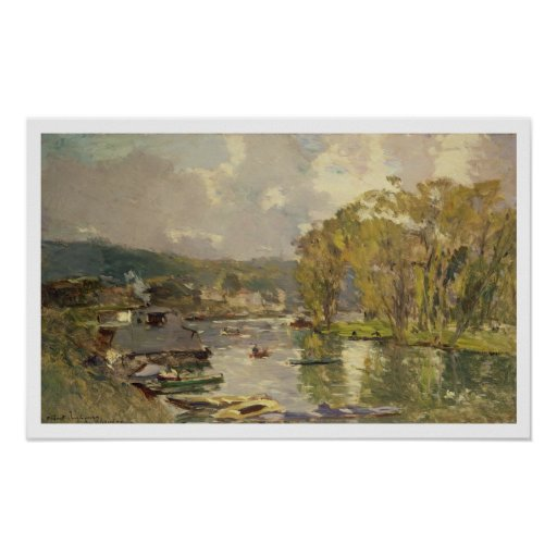 Along the Seine at Meudon, c.1893 (oil on canvas) Poster