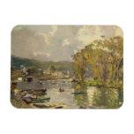 Along the Seine at Meudon, c.1893 (oil on canvas) Rectangular Photo Magnet