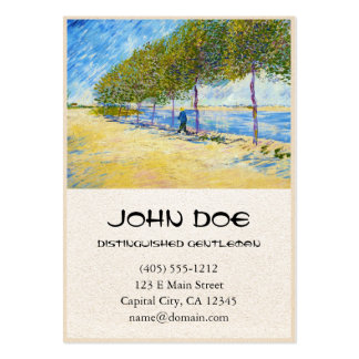 Along the Seine by Vincent Van Gogh Business Card Template