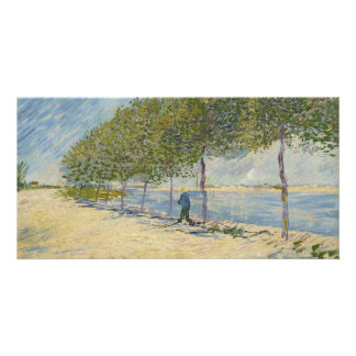 Along the Seine by Vincent Van Gogh Card
