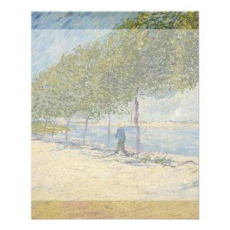 Along the Seine by Vincent Van Gogh Flyer