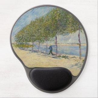 Along the Seine by Vincent Van Gogh Gel Mouse Mat