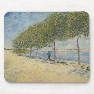 Along the Seine by Vincent Van Gogh Mousepads