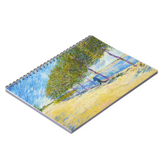 Along the Seine by Vincent Van Gogh Notebook