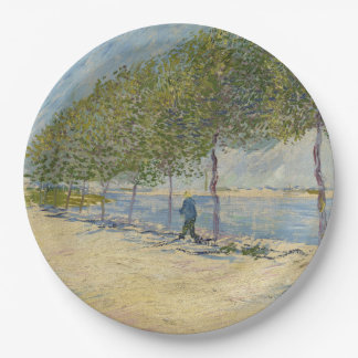 Along the Seine by Vincent Van Gogh Paper Plate