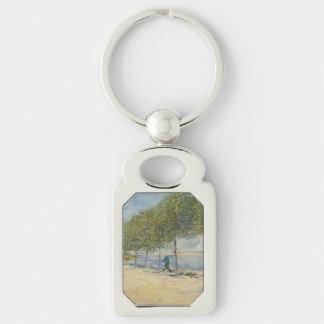 Along the Seine by Vincent Van Gogh Key Chain
