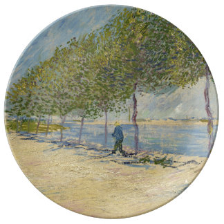 Along the Seine by Vincent Van Gogh Plate