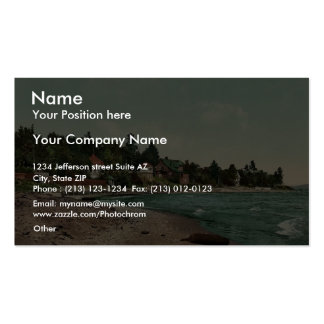 Along the shore, Harbor Point rare Photochrom Double-Sided Standard Business Cards (Pack Of 100)