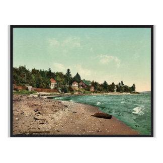 Along the shore, Harbor Point rare Photochrom Post Card
