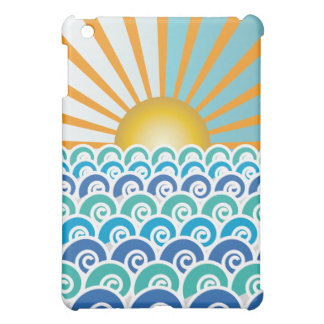 Along the Waves Blue  Case For The iPad Mini