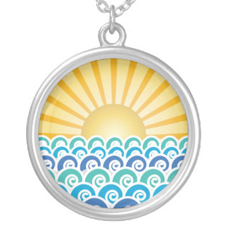 Along the Waves Blue Necklace