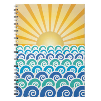 Along the Waves Blue Notebook