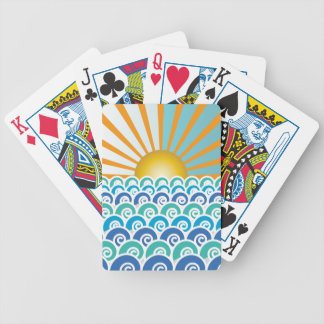 Along the Waves Blue Playing Cards