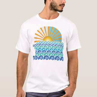 Along the Waves Blue T-shirt