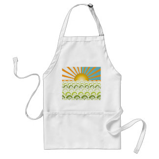 Along the Waves Green Apron