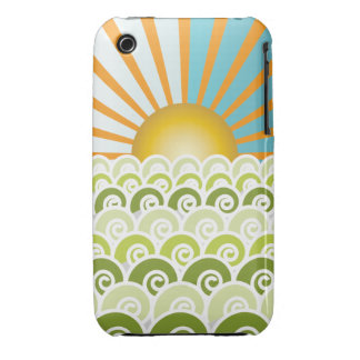 Along the Waves Green iPhone 3 Case