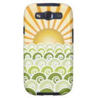 Along the Waves Green Samsung Galaxy S3 Case