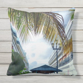 Alongside in Nassau Outdoor Pillow