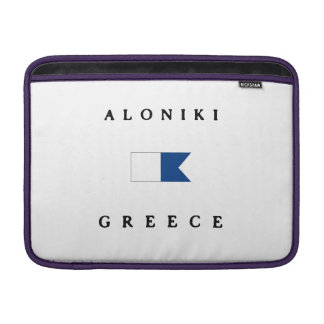 Aloniki Greece Alpha Dive Flag MacBook Sleeves