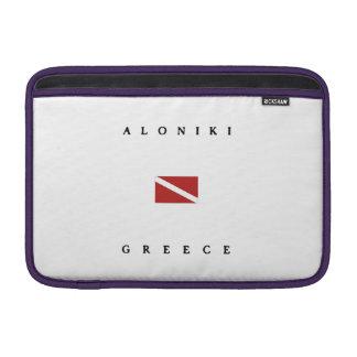 Aloniki Greece Scuba Dive Flag Sleeve For MacBook Air