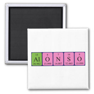 Alonso periodic table name magnet