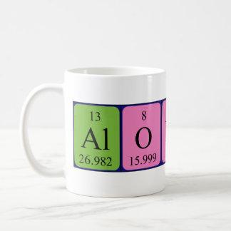 Alonso periodic table name mug