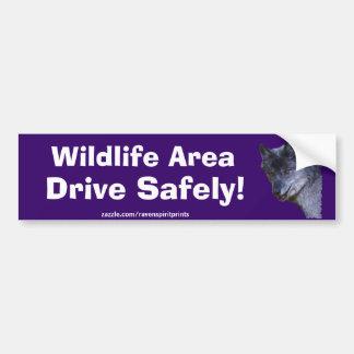 Aloof Grey Wolf Bumper Sticker Gifts