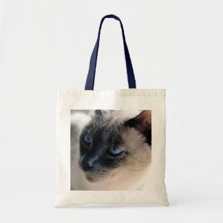Aloof Siamese Budget Tote Bag