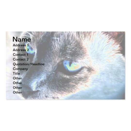 Aloof Siamese Cat Altered Business Card II