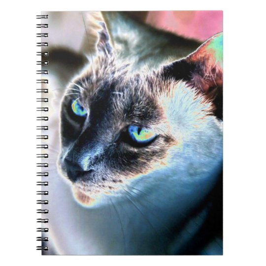 Aloof Siamese Cat Altered Notebook