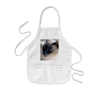 Aloof Siamese Cat Kids Apron