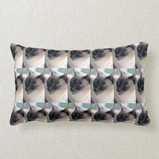 Aloof Siamese Cat Lumbar Pillow