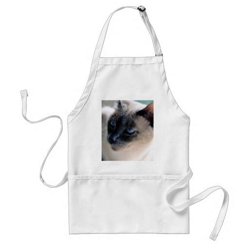 Aloof Siamese Cat Standard Apron