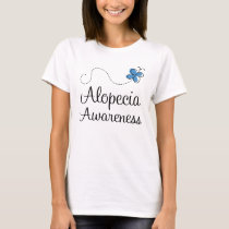 Alopecia Awareness Blue butterfly T-Shirt
