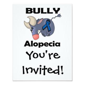 """Alopecia del matón invitación 4.25"""" x 5.5"""""""