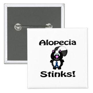 Alopecia Stinks Skunk Awareness Design Pinback Buttons