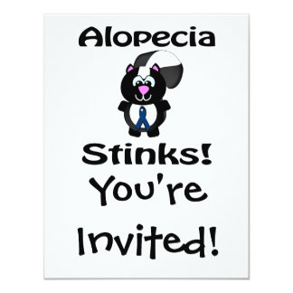 Alopecia Stinks Skunk Awareness Design Card