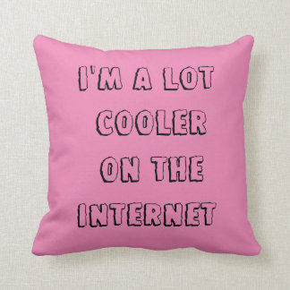 Alot cooler on the Internet throw cotton pillow