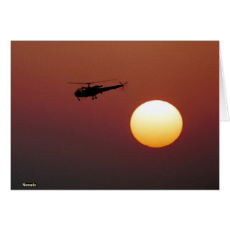 Alouette III and Sunset Card