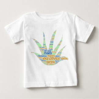 Alove Vera illustrated with cities of Florida USA Baby T-Shirt