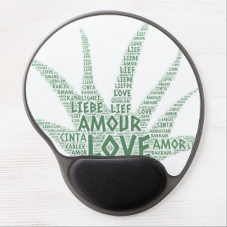 Alove Vera Plant illustrated with Love Word Gel Mouse Pad
