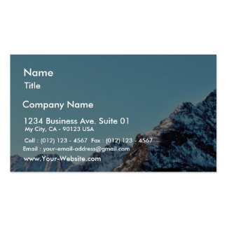 Alp Mountain In Winter With Lot Of Snow Business Cards