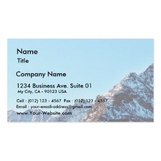 Alp Mountain In Winter With Lot Of Snow Business Card Template