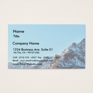 Alp Mountain In Winter With Lot Of Snow Business Card