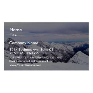 Alp Mountains Covered With Snow Business Card